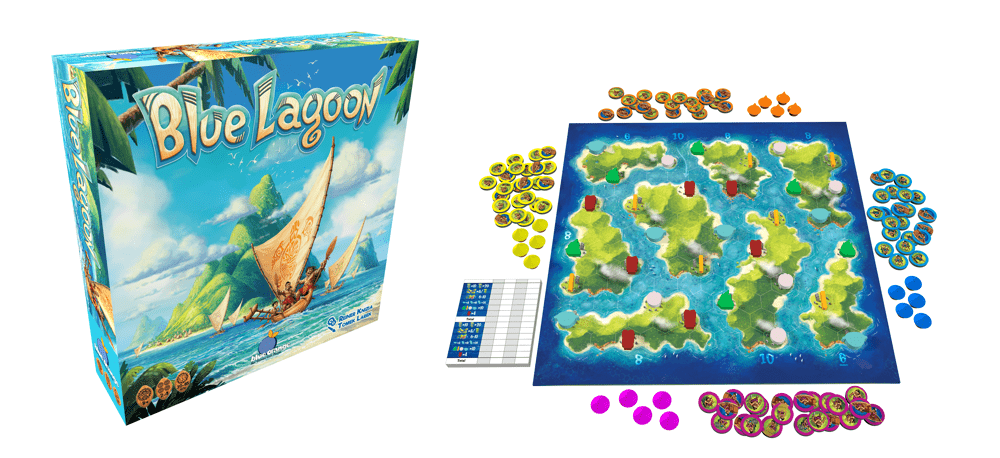 Blue Lagoon 3D Box and components