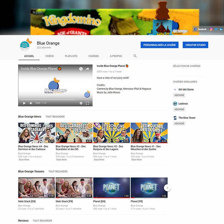 Blue Orange YouTube Channel