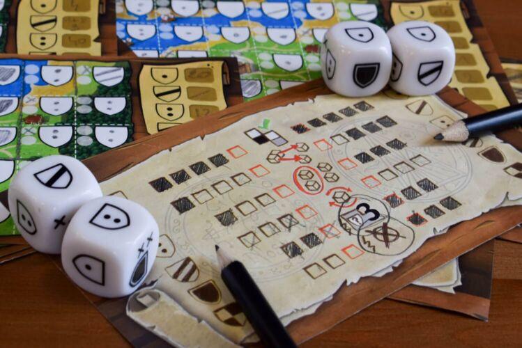 Kingdomino Duel components