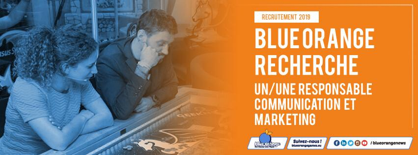 Blue Orange recrute un/une responsable communication