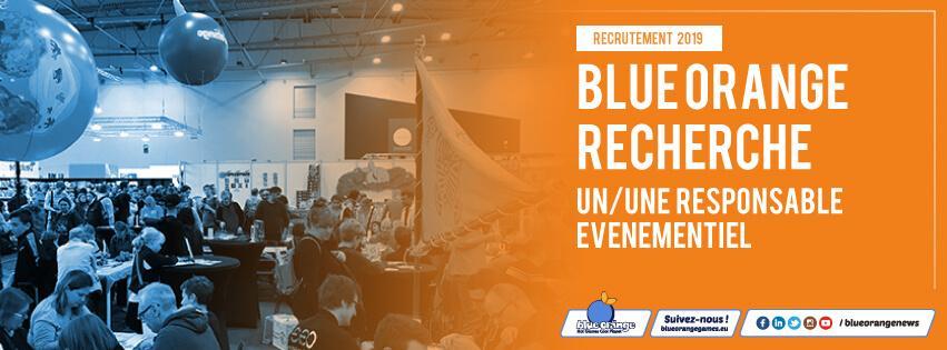 Blue Orange recrute un/une responsable événementiel