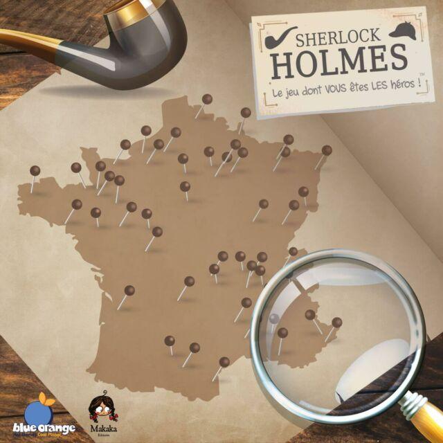 Carte de France Sherlock Holmes