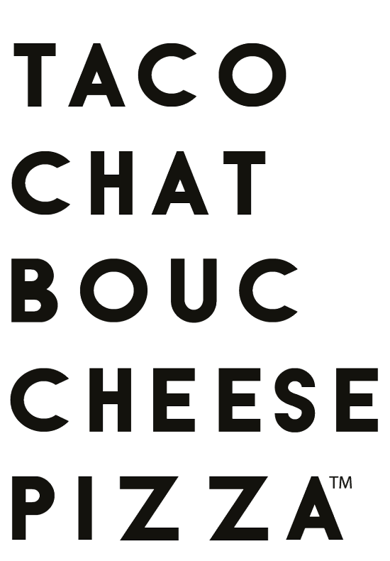 Logo Taco Chat Bouc Cheese Pizza
