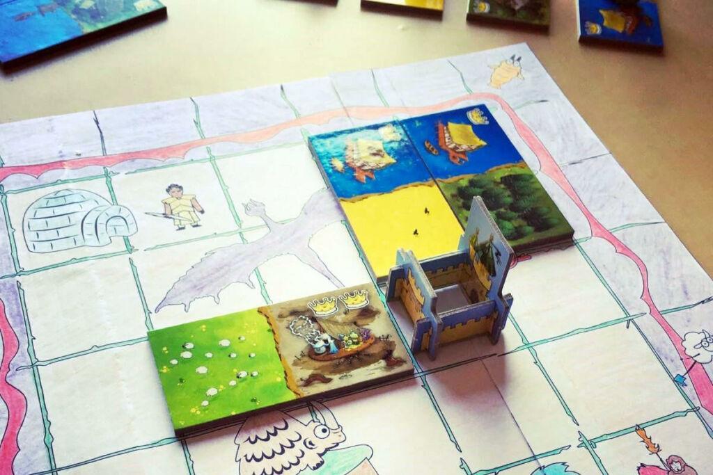 Drawing Playmat Kingdomino colored