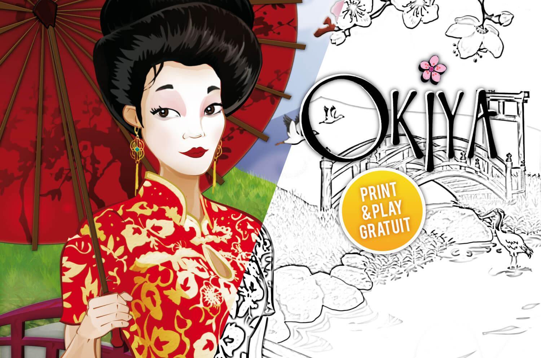 Print and Play Okiya à colorier