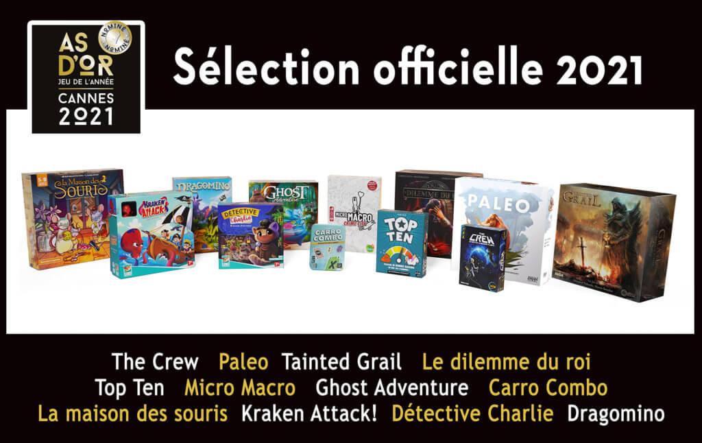Festival jeux Cannes Sélection 2021 As d'Or
